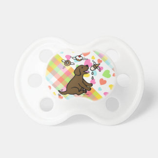 Chocolate Labrador Ice Cream Dream Pacifier