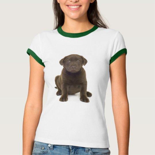 Chocolate Labrador Ladies T-Shirt