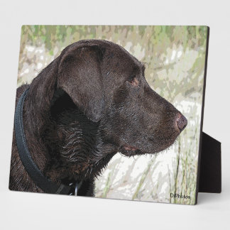 Chocolate Labrador Profile Plaque