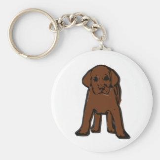 chocolate labrador puppy keychain