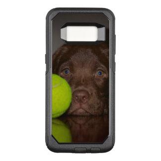 Chocolate Labrador Puppy With Tennis Ball OtterBox Commuter Samsung Galaxy S8 Case