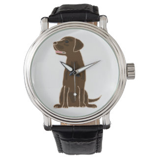 Chocolate Labrador Retriever Art Watch