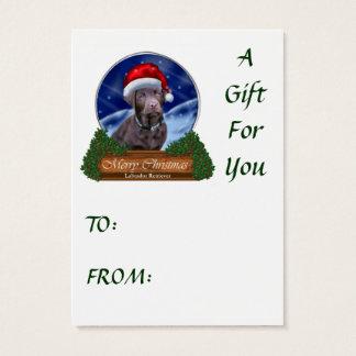 Chocolate Labrador Retriever Christmas Gifts Business Card