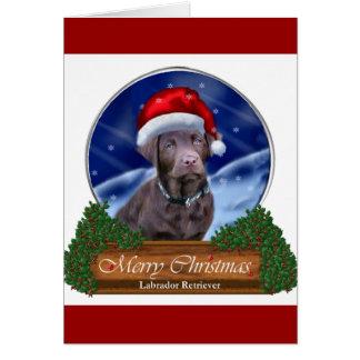 Chocolate Labrador Retriever Christmas Gifts Card