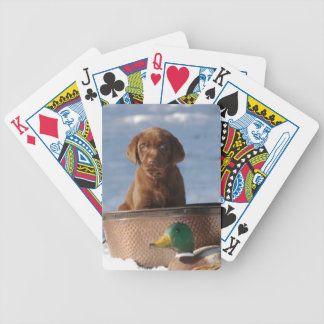 Chocolate Labrador Retriever Dog Playing Cards