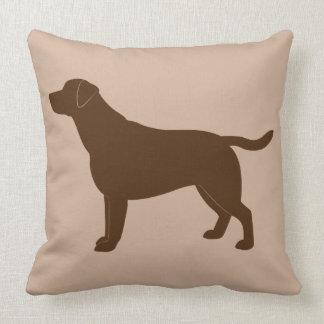 Chocolate Labrador Retriever in Silhouette Throw Pillow