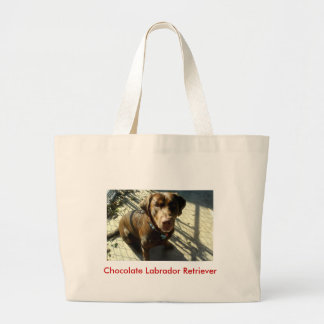 Chocolate Labrador Retriever Large Tote Bag