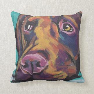 Chocolate Labrador Retriever Pop Art Pillow