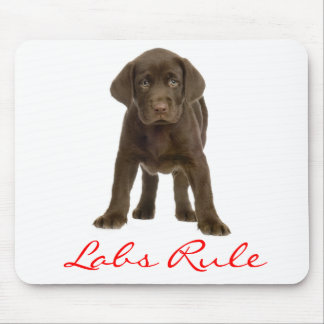 Chocolate Labrador Retriever Puppy Dog Mousepad