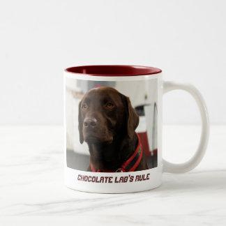 Chocolate Lab's Rule Two-Tone Coffee Mug