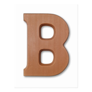 Chocolate letter B Postcard