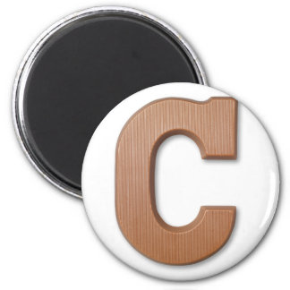 Chocolate letter C Magnets