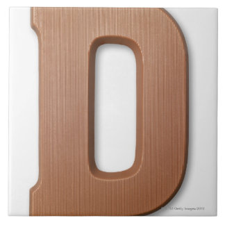 Chocolate letter d tile