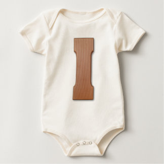 Chocolate letter I Baby Bodysuit