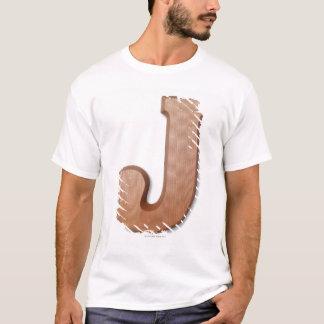 Chocolate letter j T-Shirt