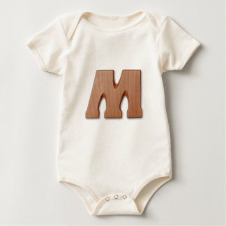 Chocolate letter M Baby Bodysuit