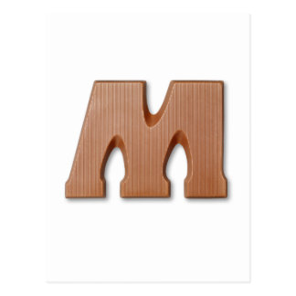 Chocolate letter M Postcard