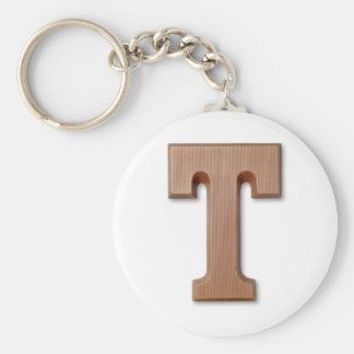 chocolate letter T Keychain
