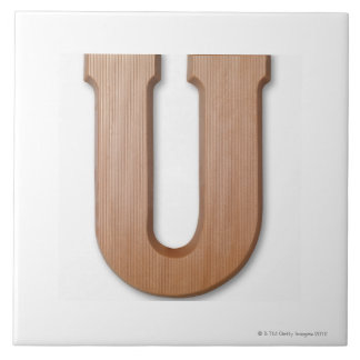 Chocolate letter u tile