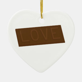 Chocolate Love Bar Ceramic Ornament