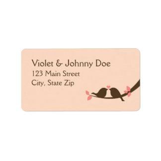 Chocolate Love Birds Label