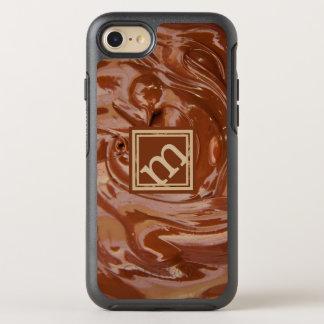 Chocolate Lover - Angled Monogram OtterBox Symmetry iPhone 8/7 Case