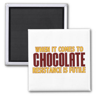 Chocolate Lovers Square Magnet