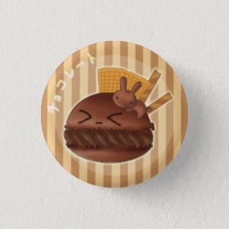 Chocolate macaron 1 inch round button