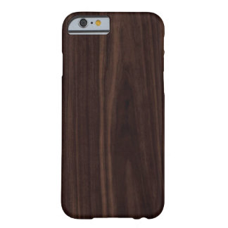 Chocolate Mahogany Dark Wood Grain Texture Barely There iPhone 6 Case
