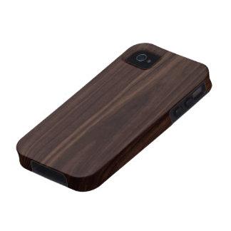 Chocolate Mahogany Dark Wood Grain Texture iPhone 4 Cover