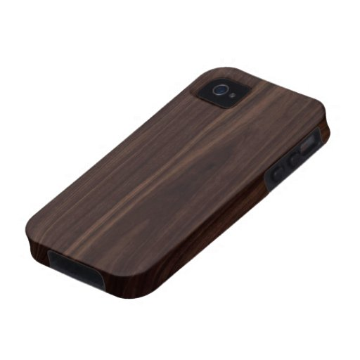 Chocolate Mahogany Dark Wood Grain Texture iPhone 4 Cover