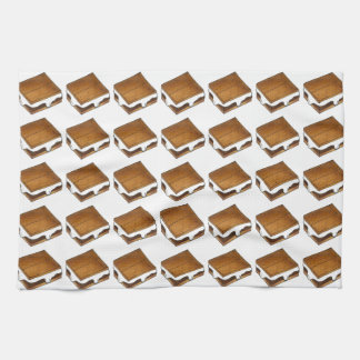 Chocolate Marshmallow S'mores Smore Kitchen Towel
