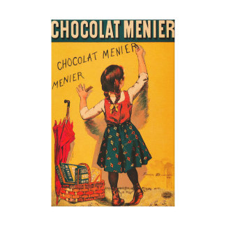 Chocolate Menier French Vintage Advertisement Canvas Print