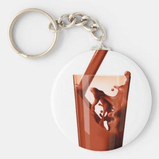 Chocolate Milk Basic Round Button Keychain