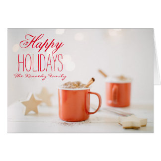 Chocolate milk topped with whipped cream greeting card