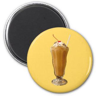 Chocolate Milkshake 2 Inch Round Magnet