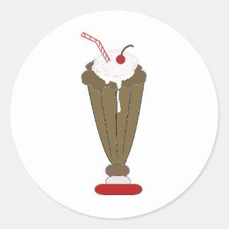 Chocolate Milkshake Round Sticker