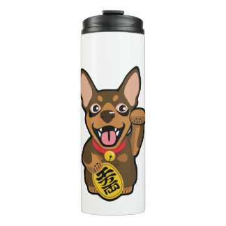 Chocolate MinPin Miniature Pinscher Tumbler