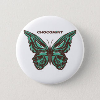 Chocolate mint butterfly 2 inch round button