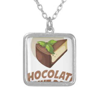 Chocolate Mint Day - Appreciation Day Silver Plated Necklace