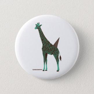 Chocolate mint giraffe 2 inch round button