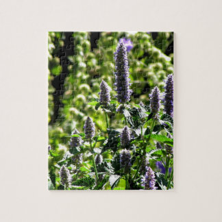 Chocolate Mint in the Summer Garden Jigsaw Puzzle