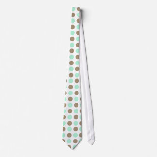 Chocolate & Mint Polka Dots Tie