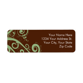Chocolate Mint Return Address Labels