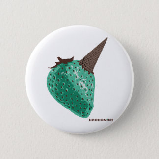 Chocolate mint _strawberry 2 inch round button