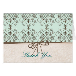 Chocolate & Mint Thank You Card