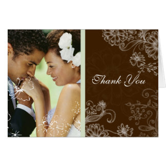 Chocolate Mint - Wedding Card