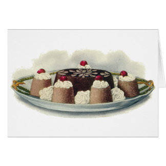Chocolate Mold Vintage Dessert Card