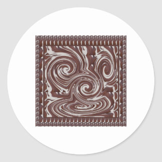 CHOCOLATE Monster TEMPLATE Resellers Welcome GIFTS Round Sticker