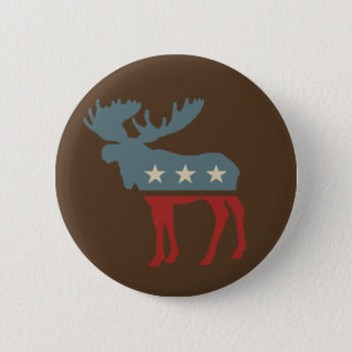Chocolate Moose 2 Inch Round Button